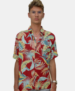RED PALM SHIRT FRONT